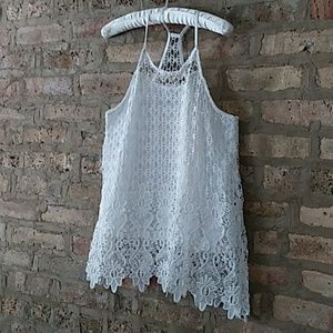 Rebellion racer back lace tank top